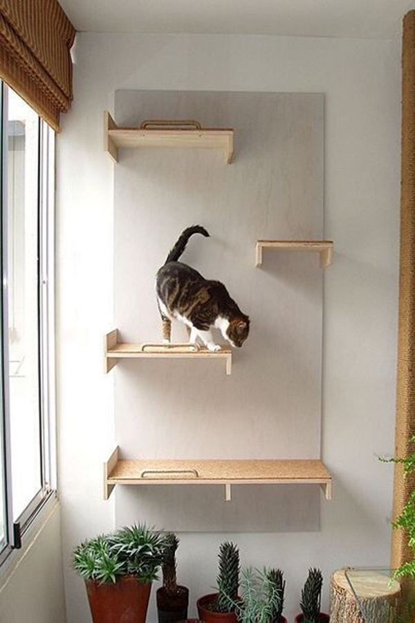 Simple Diy Cat Playground In The Wall Homemydesign
