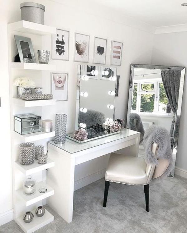 40 Feminine Makeup Room Ideas That Women Must Have ...