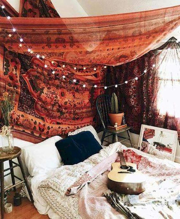 40 Best Tapestry Bedroom Ideas With Bohemian Vibes Homemydesign