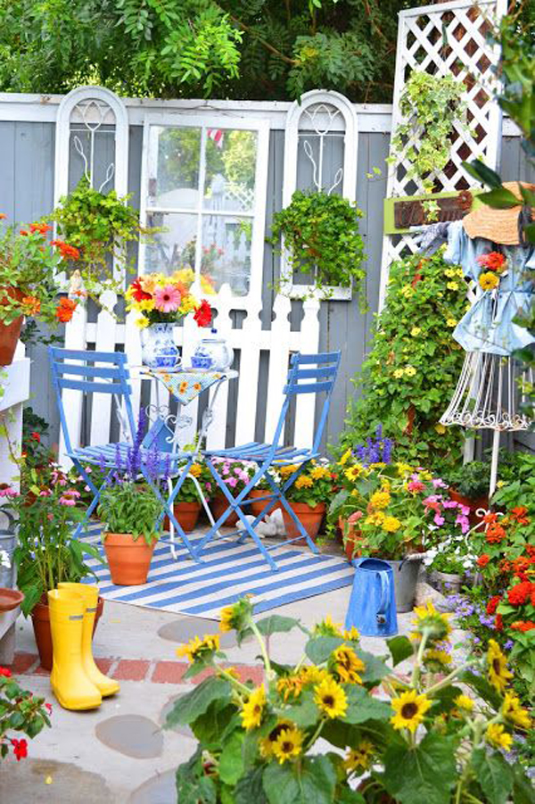 diy-rustic-small-garden-decor-for-summer - HomeMydesign