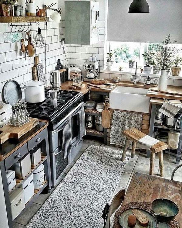 10 Boho Chic Kitchen Interior Design Ideas: Farmhouse-kitchen-design-ideas-with-boho-chic-style