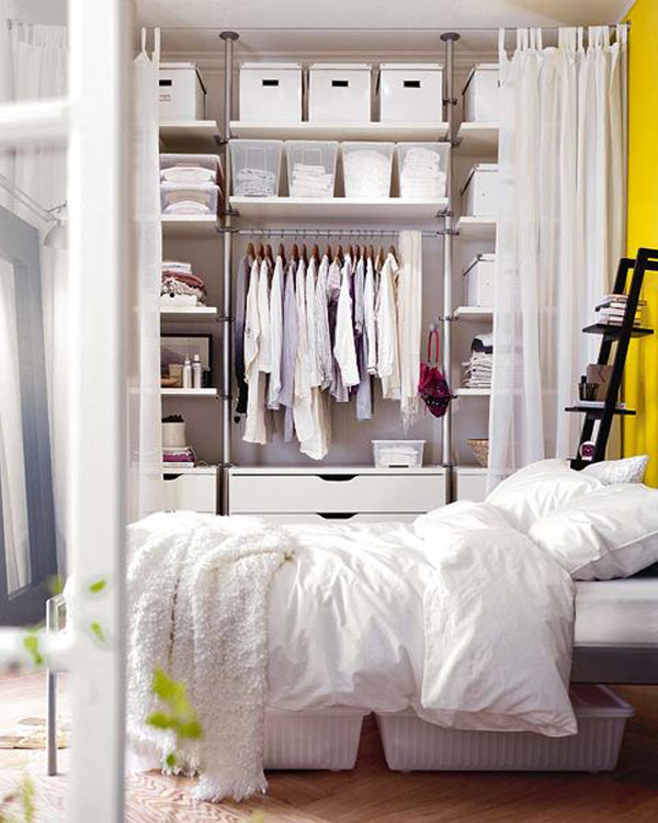 Modern and stylish open closet design for bedroom - Room with no closet ...