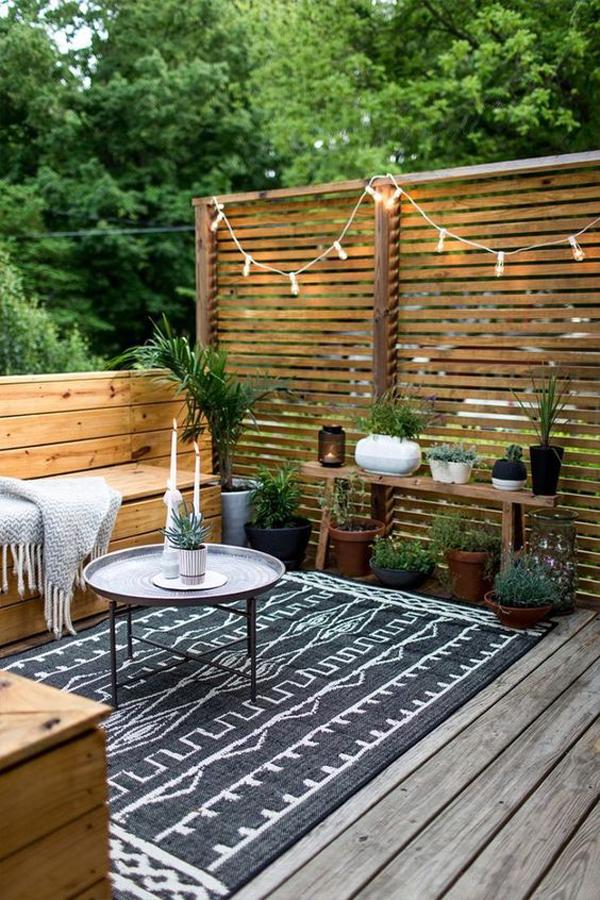 modern-bohemian-garden-style-for-small-backyard - HomeMydesign