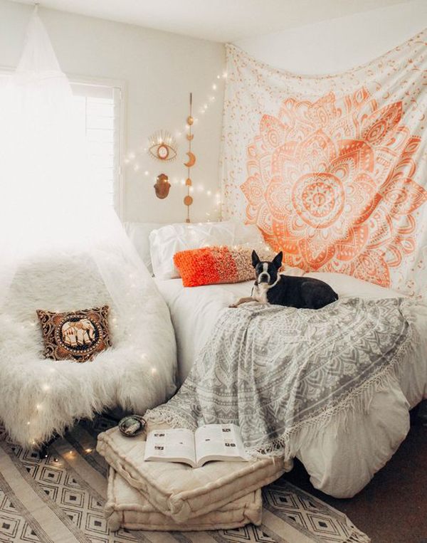 Relaxing Tapestry Bedroom Decorating Ideas Homemydesign