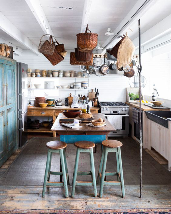 37 Farmhouse Kitchen Design Ideas With Bohemian Vibes