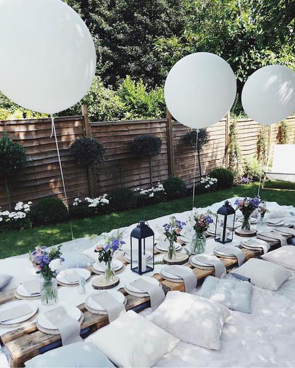 Stylish White Garden Party Designs Homemydesign