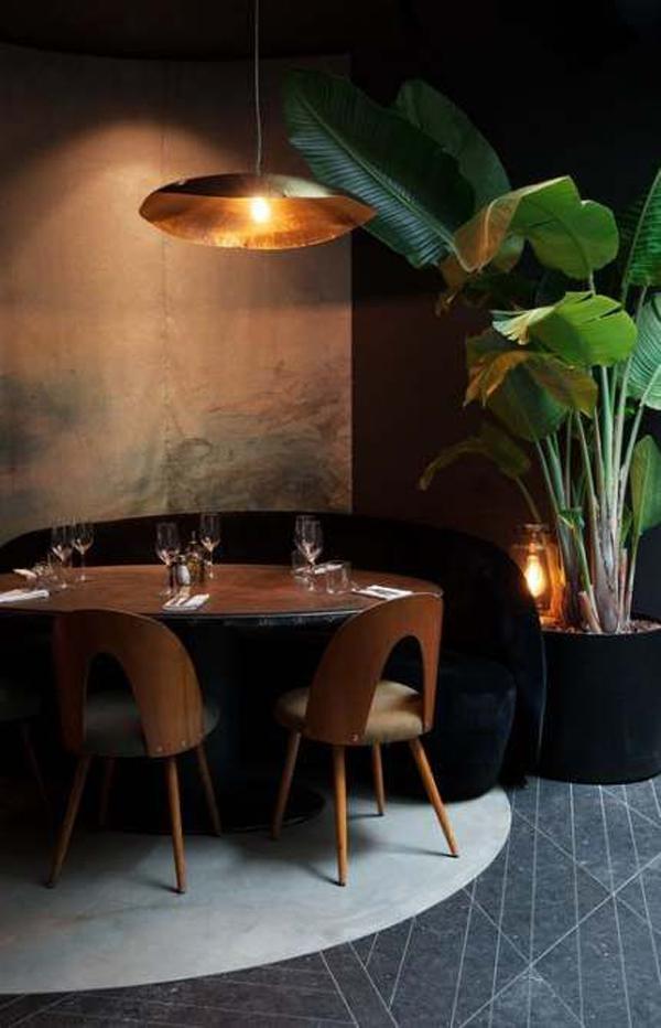 Fresh Restaurant Interior Design With Plants Home Design