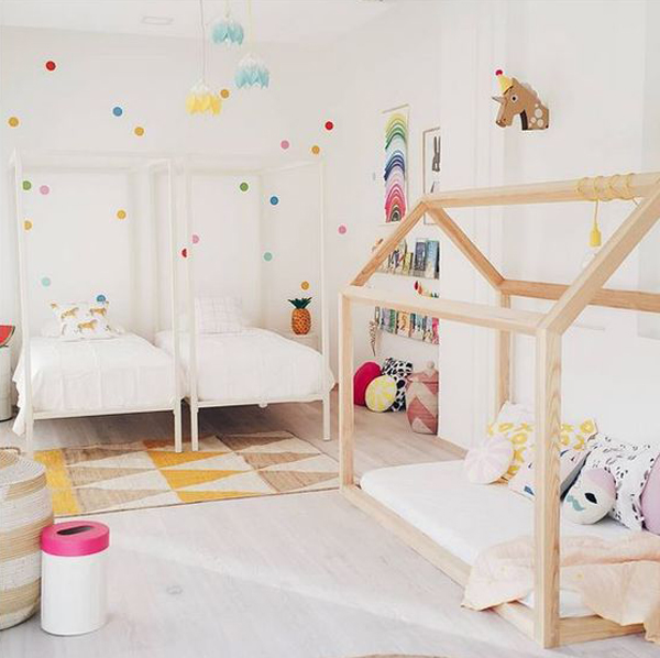 25 Creative And Fun Kids Room Ideas For Sharing Homemydesign