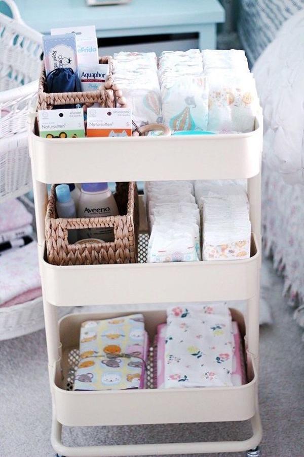 ikea-cart-baby-clothes-organizer - HomeMydesign