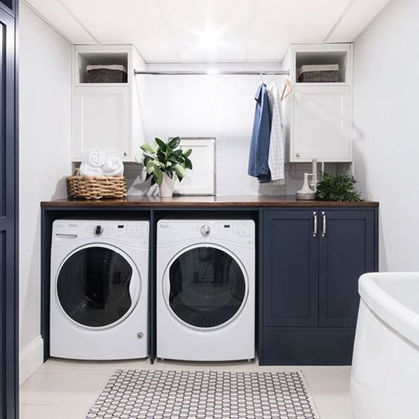 32 Timeless Black And White Laundry Room Ideas Homemydesign