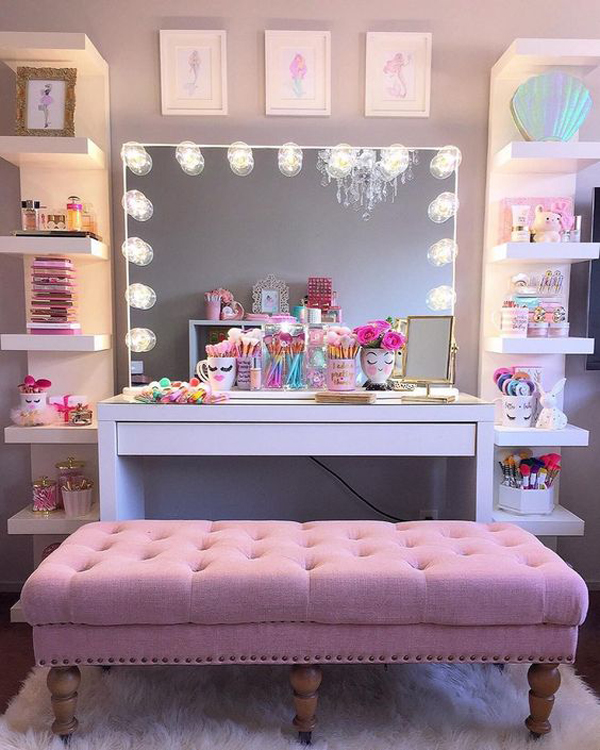 32 Stylish Home Makeup Room Ideas That All Women Must Have ...