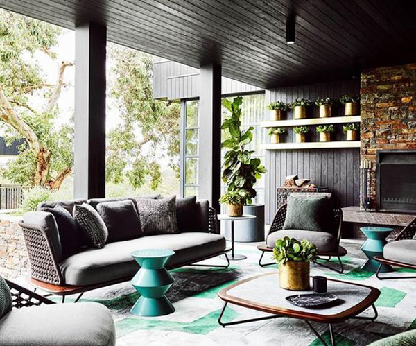 25 Seriously Beautiful Living Room Integrated With Outdoors