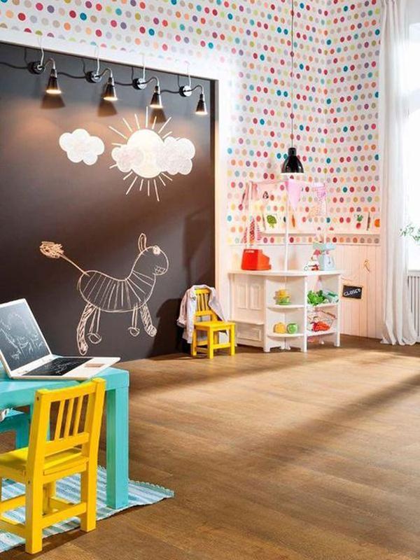 34 Smart Kids Room Ideas With Creative Chalkboard