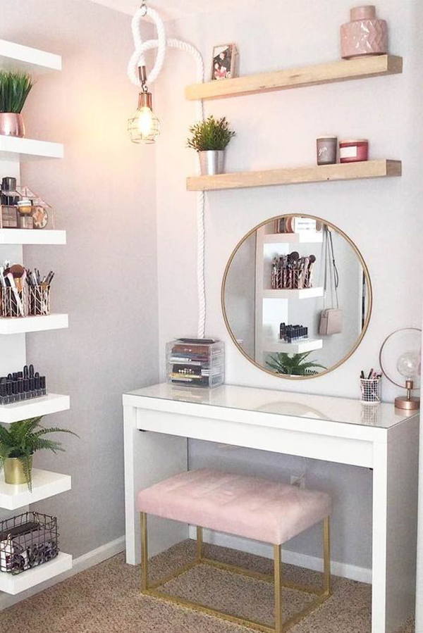 popular-home-makeup-vanity-table-designs-for-teen ...