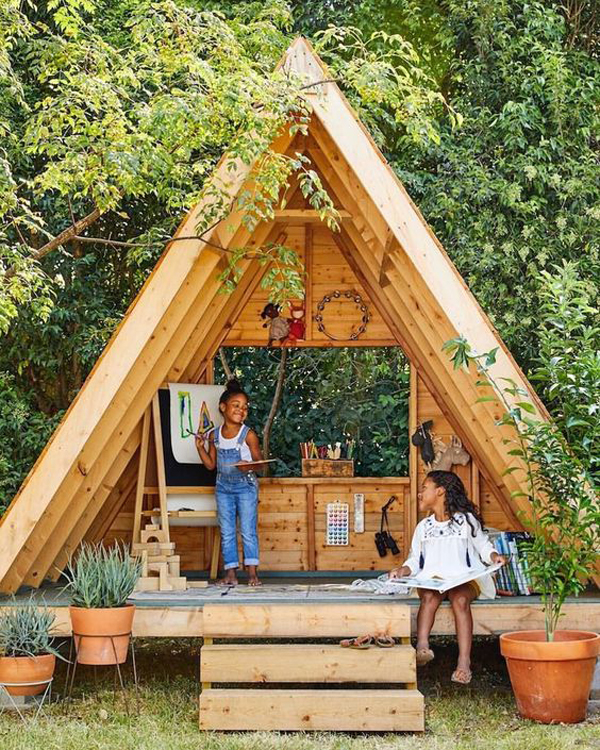 Wooden Secret Garden Spot With Outdoor Play And Learning