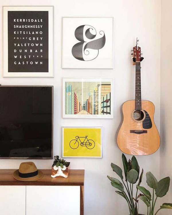 35 Simple Guitar Wall Display Ideas For Music Lovers