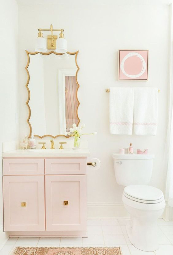 Lovely Girls Bathroom Ideas With Pink Accent Homemydesign