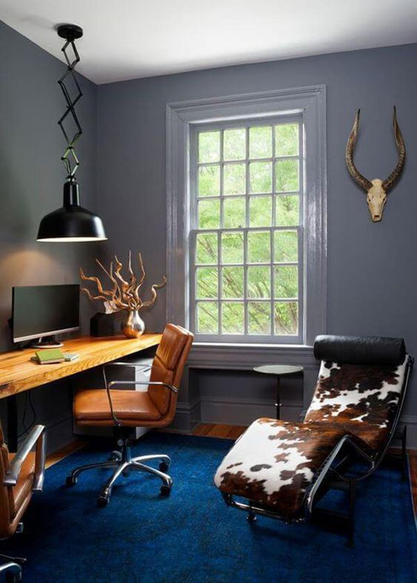 40 Cool And Masculine Home Office Ideas For Men Homemydesign