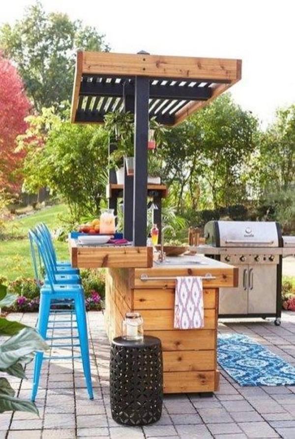 29 Fun And Cozy Outdoor Bar Ideas For This Summer ... on Backyard Bar id=16962