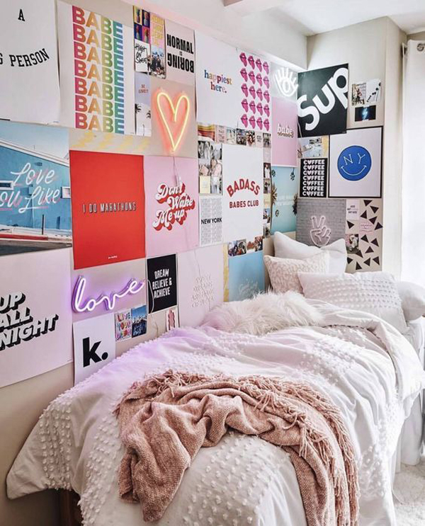 25 Cool Poster Decor Ideas For College Dorm Room ... on Room Decor Posters id=49162