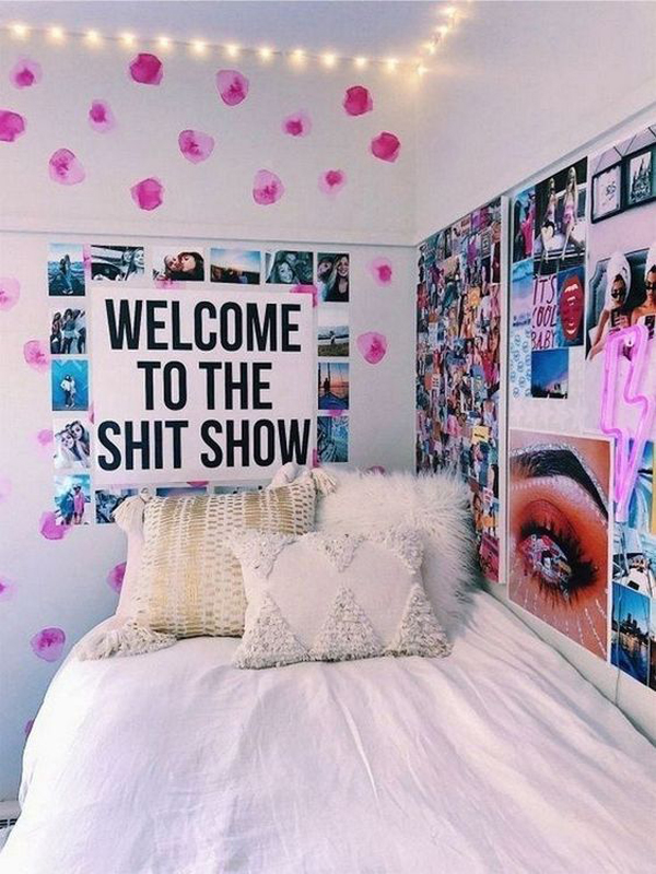 25 Cool Poster Decor Ideas For College Dorm Room ... on Room Decor Posters id=60739