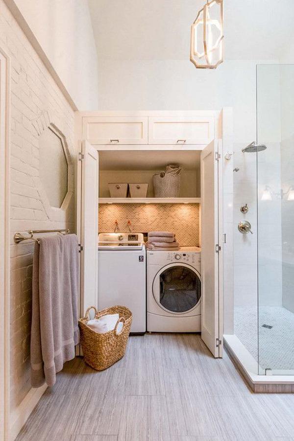 35 Smart Ways To Hide Washing Machine In Your Interiors