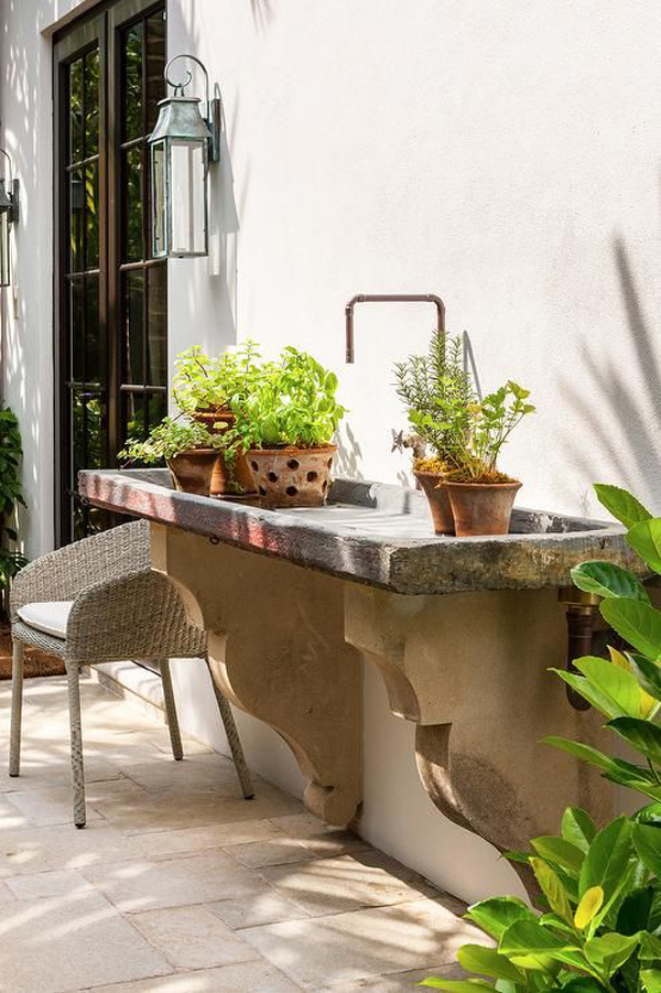 25 Ways To Make Useful Your Outdoor Sinks