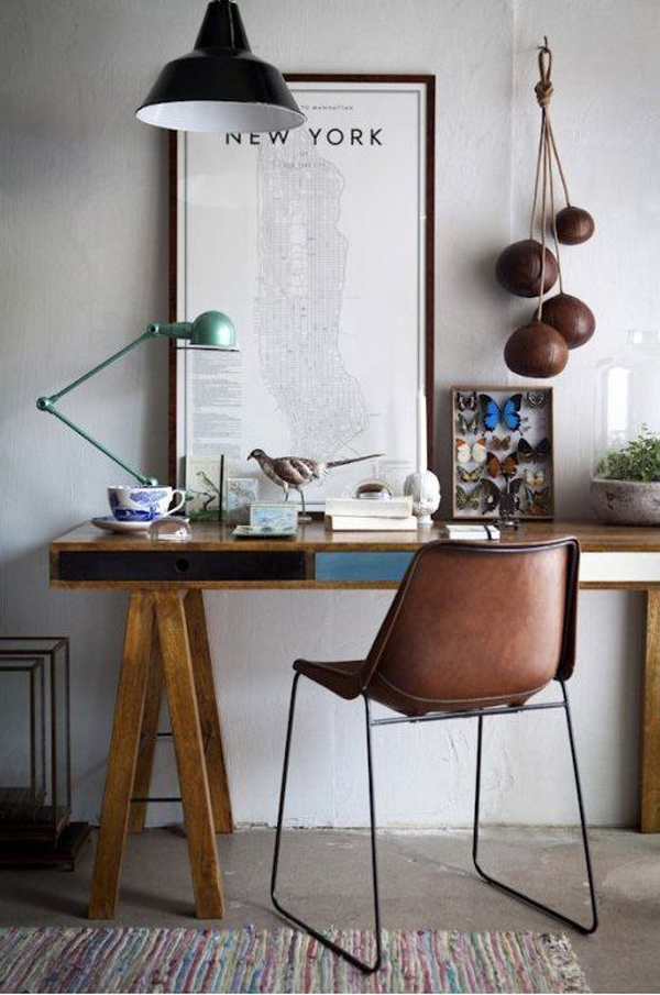 40 Wooden Desks To Improve Your Mood And Productivity