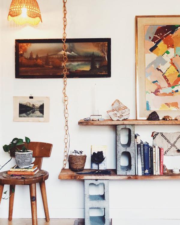 20 Modern Cinder Block Bookcase For DIYs lover