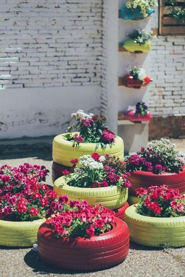 35 Unique DIY Garden Decor Ideas From Old Tires