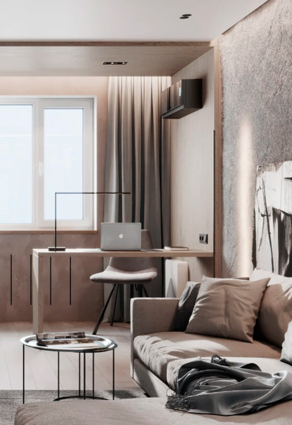 Minimalistic And Austere Interior In Warm Colors