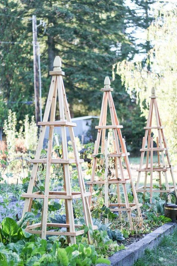 12 Creative DIY Garden Trellis Ideas For Outdoor Aesthetic
