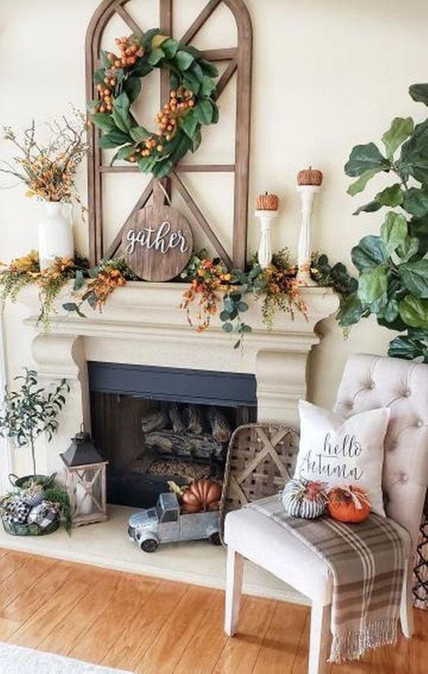 35 Favorite Mantel Decor Ideas For This Fall Season