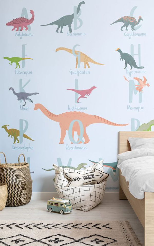 Decorate The Kids Bedroom With Dinosaurs Homemydesign