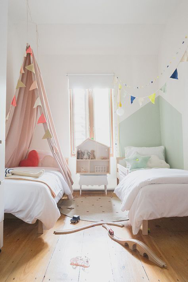32 Adorable Shared Kids Bedroom For Boys And Girls