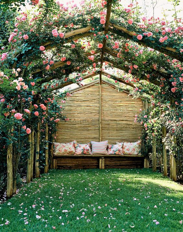 cute-secret-flower-garden-with-reading-nook | HomeMydesign