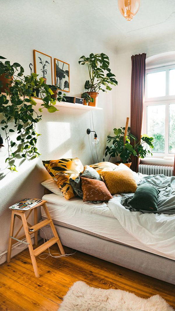 25 Cozy Bohemian Bedroom With Natural Inspired   HomeMydesign