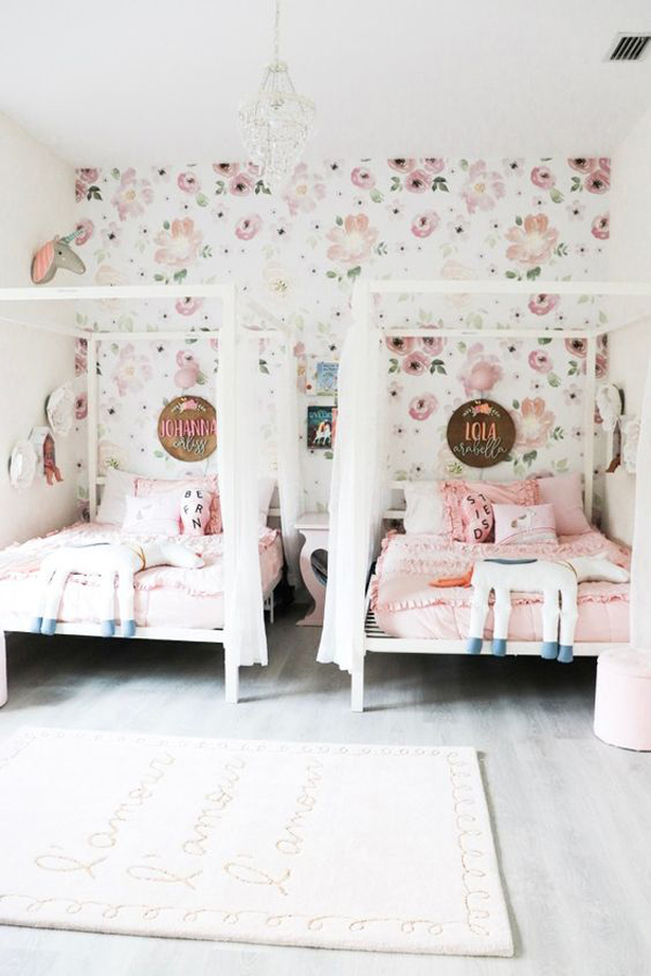 32 Cozy And Beautiful Shared Bedroom For Little Girls