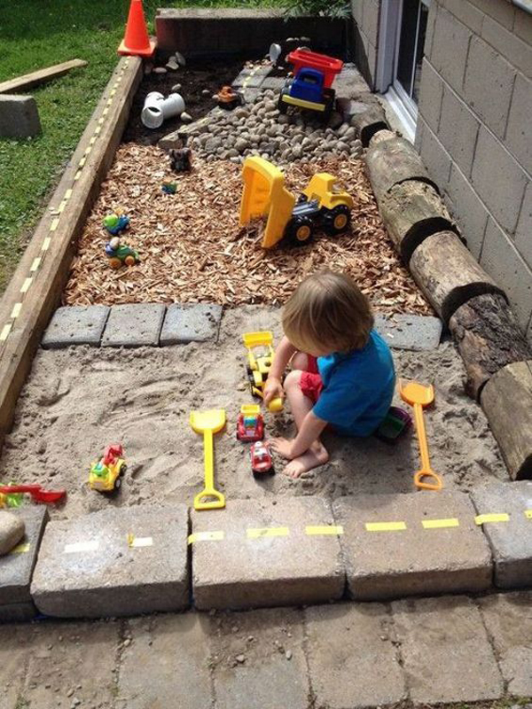 23 Fun DIY Sandbox And Gravel Pit For Kids Playing