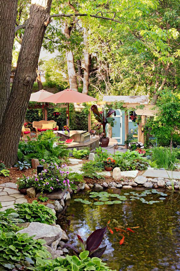 25 Beautifully Backyard Pond Ideas In Between Your Landscapes