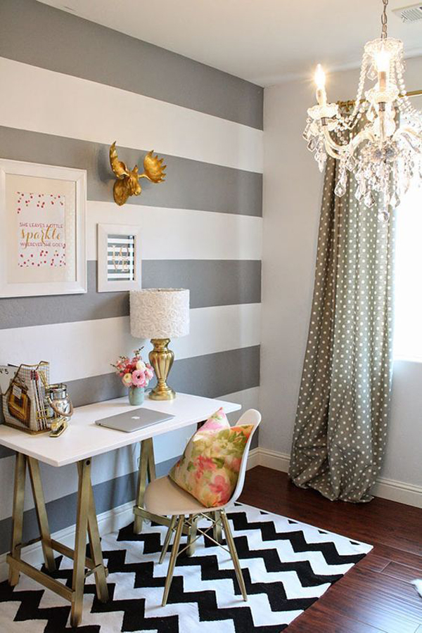 40 Striped Accent Walls That Easiest