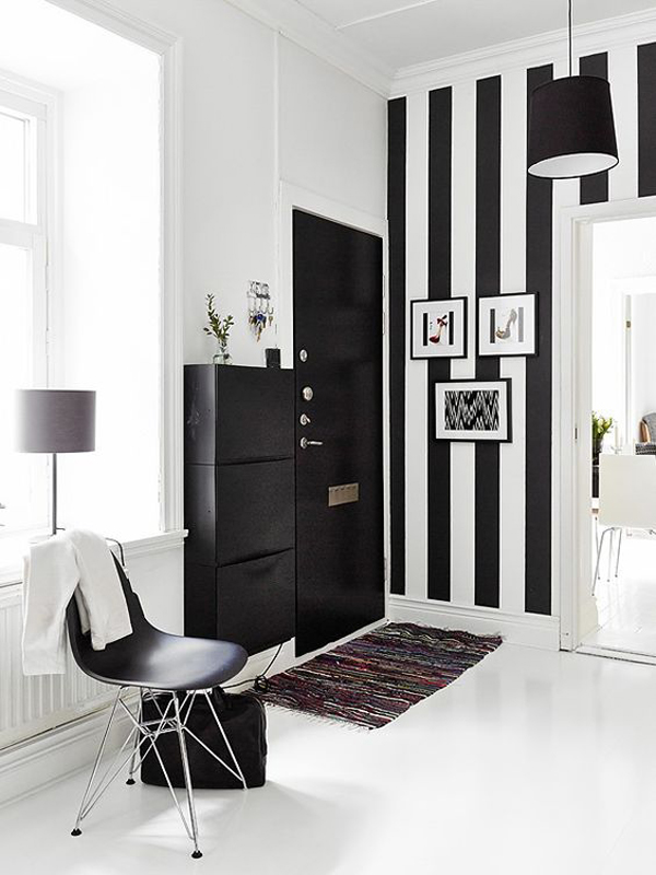Black And White Striped Wall Ideas Homemydesign