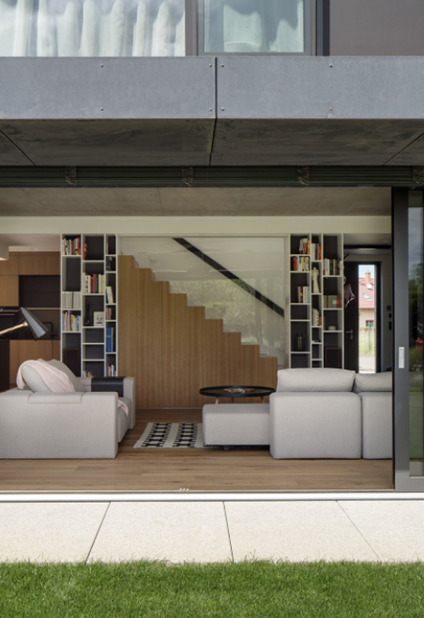 Family House Interior With Neutral Shades In Prague, Czech Republic
