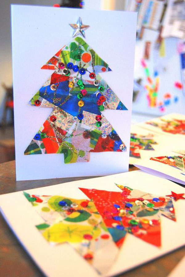 28 Handmade Christmas Card Ideas That Kids Can Make