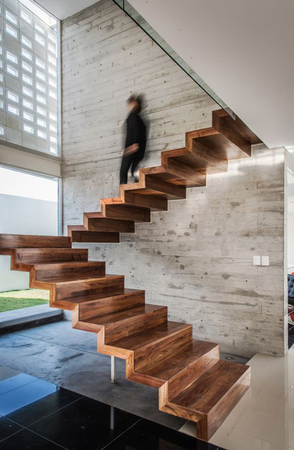unique-no-railing-floating-stairs   HomeMydesign