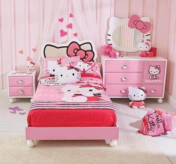pink-hello-kitty-bedroom