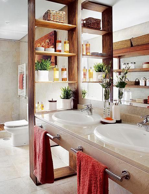 bathroom-divider-with-shelving-units