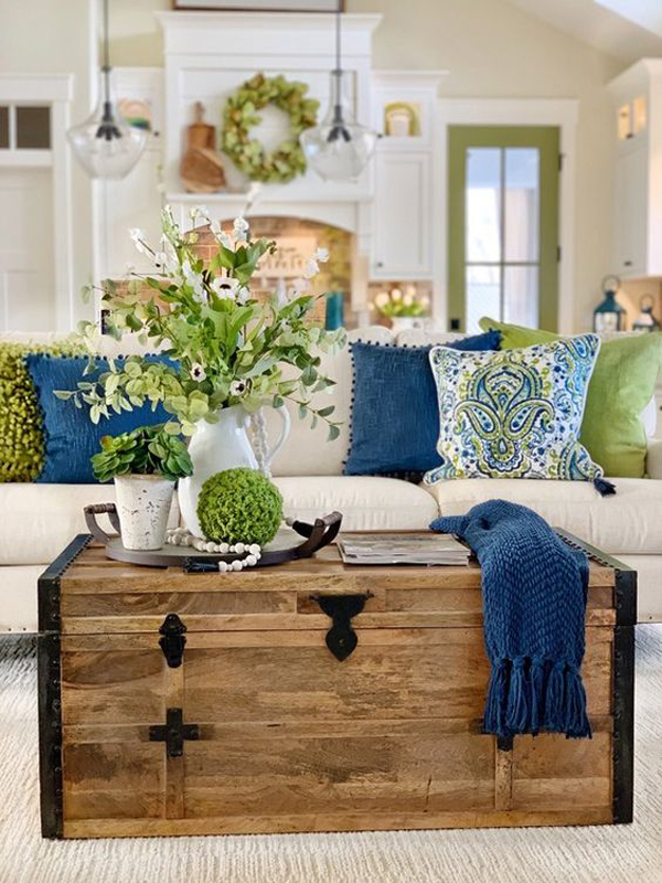 beautiful-rustic-living-room-for-spring