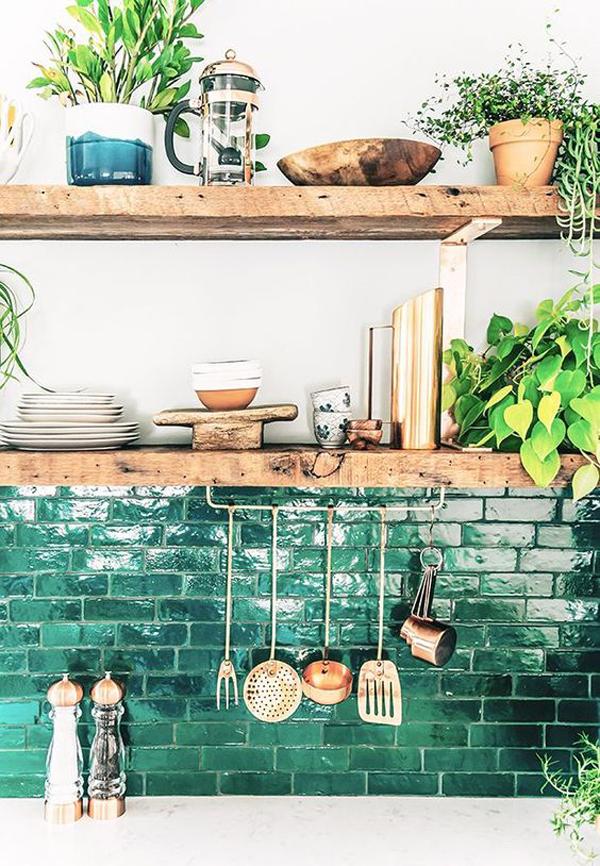 boho-kitchen-dish-rack-ideas
