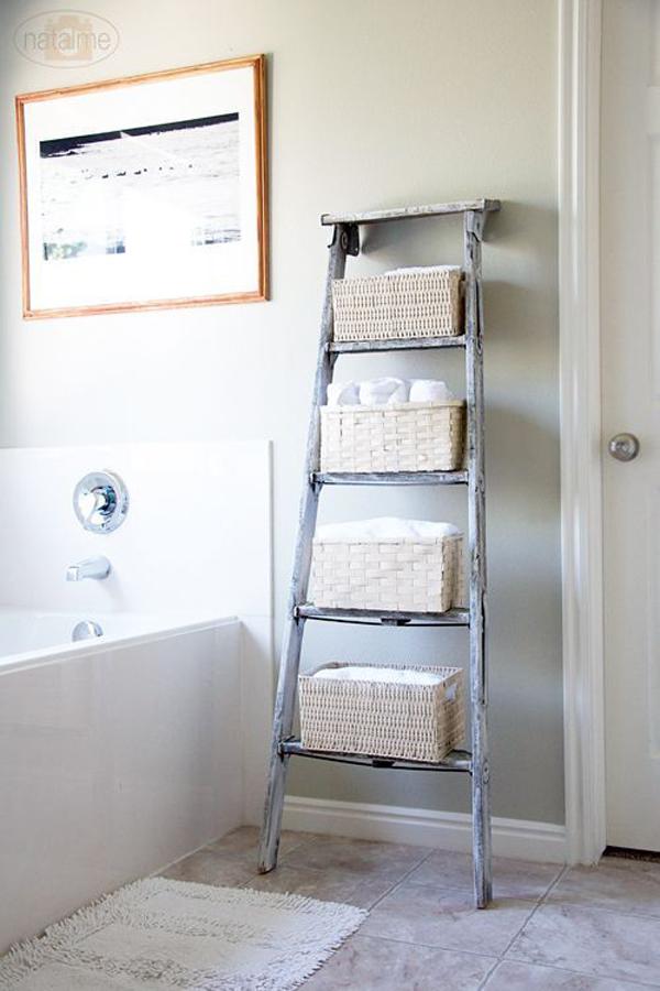 ladder-bathroom-storage